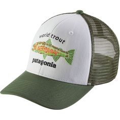 47a8d9dcc56 Patagonia World Trout Fishstitch Trucker Hat White One Size