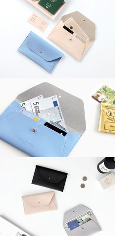 This slim and unique pouch is what I've always been looking for! This can be a daily wallet to carry bills, cards and my smartphone, and also a travel wallet as it can fit my passport too! Thanks to its classy design, I will look more stylish by simply carrying this pouch!