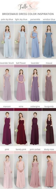 tulle and chantilly bridesmaid dresses with ombre colors