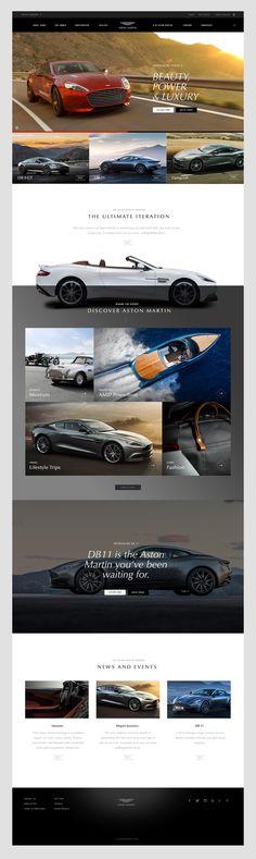 Aston Martin Interactive Experience on Behance Industrial Design Portfolio, Portfolio Design, Webpage Layout, Photoshop, Best Web Design, Interior Design Companies, Web Design Inspiration, Design Ideas, Creative Industries