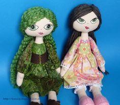 Muñecas de trapo.  Cloth dolls.