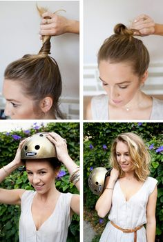 Ideas Motorcycle Hairstyles For Women Pin Up - Motorcycling Roller Derby, Roller Skating, Pin Up, Natural Hair Tips, Natural Hair Styles, Natural Beauty, Motorcycle Hairstyles, Helmet Hair, Cut Her Hair