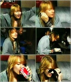 Axl his smile and a can of coke...perfection