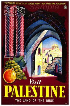 VP02 Palestina Vintage Travel Poster Print