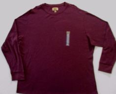 The Foundry Supply Men T Shirt 3XLT Burgundy Solid Crew Thermal  Cotton 1708 #TheFoundrySupply #BasicTee
