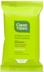 Clean Well™ All-Natural Hand Sanitizing Wipes