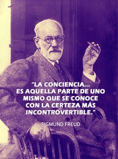 #Laconciencia es aquella parte de uno mismo que se conoce con la certeza más incontrovertible. Sigmund Freud #SigmundFreud Sigmund Freud, Dr Freud, Psychology, Coaching, Singing, Velvet, Great Quotes, Pretty Quotes, Quotable Quotes