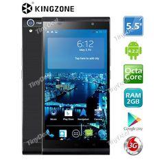 "(KINGZONE) TURBO K1 5.5"" IPS MTK6592 Octa Core Android 4.2.2 3G Phone 14MP CAM 2GB RAM 16GB ROM NFC OTG P05-KZK1"