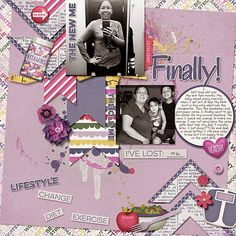 Layout using {Healthy & Fit} Digital Scrapbooking Kit by Kristin Aaagard http://the-lilypad.com/store/Healthy-and-Fit-Kit.html #digiscrap #digitalscrapbooking #kristinaagard #healthy&fit