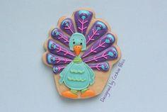#Peacock Cookies - For all your cake decorating supplies, please visit craftcompany.co.uk
