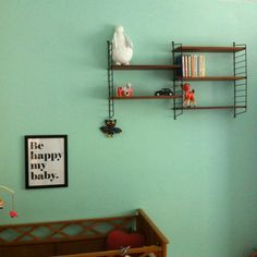 "Affiche ""Be happy my baby"" Studio jolis mômes"