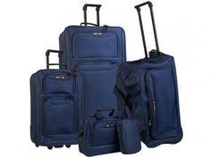 Conjunto de Malas para Viagem Swiss Move - CJ14G0285A 5 Peças - Azul Marinho