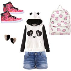 harajuku fashion by pinkmitta on Polyvore featuring polyvore fashion style Supra Yves Saint Laurent