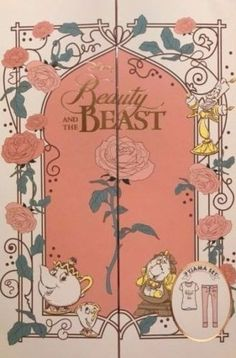 Disney-Beauty-and-the-Beast-Ladies-Pyjama-Full-Set-PJs-Tshirt-Pants-Gift-Box-XL