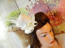 Brauthut Creme Ivory Minihat Minizylinder Hochzeit