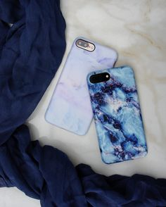 Northern Lights + Marble Case in Geode  from Elemental Cases and available for iPhone 7 & iPhone 7 Plus