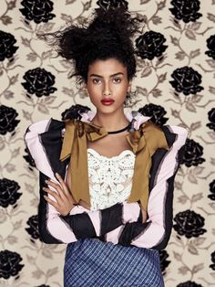 Imaan Hammam In 'Wall Flower' By Patrick Demarchelier For Vogue China March 2017 — Anne of Carversville  http://www.anneofcarversville.com/style-photos/2017/2/20/imaan-hammam-in-wall-flower-by-patrick-demarchelier-for-vogue-china-march-2017