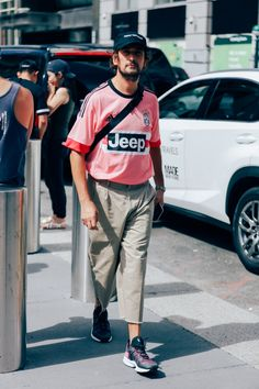 How new york's most stylish men dress right now photos gq. Modern Mens Fashion, Classic Football Shirts, Most Stylish Men, Football Fashion, Jersey Outfit, Pose, Well Dressed Men, Men Dress, Menswear