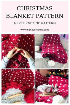 Christmas Blanket Knitting Pattern| Make a huge chunky knit throw blanket this season. The blanket is soft, squishy and quicker to make than most, which makes it an excellent project! #Christmas #christmasthrow #throwblanket #blanket #christmasblanket #knitting #knit Knitting For Kids, Free Knitting, Knitting Projects, Chunky Knit Throw Blanket, Knitted Blankets, Christmas Knitting Patterns, Baby Knitting Patterns, Knitting Abbreviations, Diy Crafts For Girls