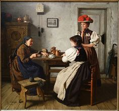 File:At the Fortune Teller's by Alma Erdmann, 1900, oil on canvas - Chazen Museum of Art - DSC02374.JPG