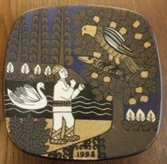 Arabia Kalevala 1998 Finland, Book Worms, Scandinavian, Porcelain, Design Ideas, Plates, Ceramics, Tableware, Beautiful