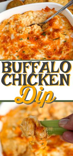 This is the best BUFFALO CHICKEN DIP recipe ever! It's a 5 ingredient recipe for your next party. Creamy, cheesy and tastes like buffalo chicken wings dipped in ranch dressing. Baked Buffalo Chicken Dip, Chicken Dips, Canned Chicken, Chicken Recipes, Buffalo Dip, Best Appetizers Ever, Appetizer Recipes, Cheesy Bacon Dip, Ranch Dressing