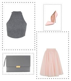 """""""Grey/pink outfit """" by lyvj on Polyvore featuring Ted Baker, Miss Selfridge, Kurt Geiger and STELLA McCARTNEY"""