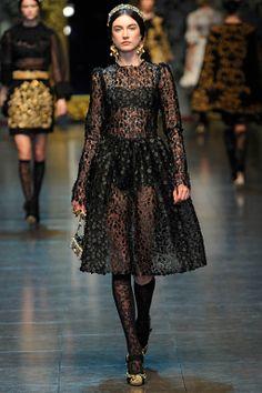 $16,400 New DOLCE & GABBANA Black Floral Appliqué Lace Dress image 2