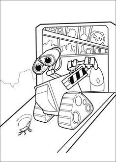 Fargelegging Wall-E. Tegninger 33