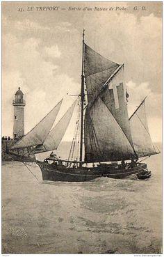 Dundée caboteur rentrant  au Tréport à la marée, c.1900