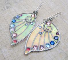 Sihaya Designs Faery Wing Earrings  Daoine Sith by SihayaDesigns, $46.00