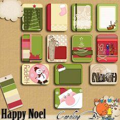 """#Etsy https://www.etsy.com/shop/CarolineBDesign   Happy Noel Journal Cards - Cartes (Kit numérique pour scrapbook à télécharger) by CarolineBDesign      1,99 USD  Happy Noel Journal Cards - Cartes (Kit numérique pour scrapbook à télécharger)  Palette aux couleurs classiques mais éléments fantaisie pour Noël ! Voici un set de 12 """"journal cards"""" (cartes pour journaling) coordonnées à la série """"Happy Noel"""" + le nuancier.  -----  Voyez la SERIE COMPLETE :   Happy Noël Bundle https://w.."""