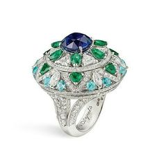 Van Cleef & Arpels ~ Le Secret high jewellery collection with diamonds, emeralds, sapphire and Paraiba tourmalines. .  . . ➡ P L E A S E swipe on the post above to see more. . #vancleefandarpels #jewellery #vancleefarpels #lesecret #collection #ring #rings  #jewelleryaddict #gemstone #diamond #sapphire #emerald #paraibatourmaline #jewels #hautejoaillerie #highjewellery highjewellerydream #jewelry #jewellerygram #finejewelry #jewelrypost #instajewels #instastyle #insta #likeforlike #...