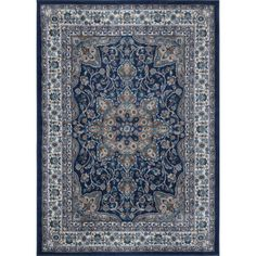 Found it at Joss & Main - Violet Navy Oriental Hand-Tufted Area Rug