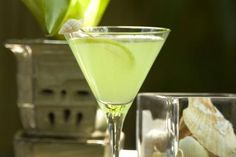 The Melon Cucumber-tini is a Sweet and Simple Delight: So easy and so refreshing, this vodka martini begins with melon vodka and ends with fresh cucumber. You will love it!.