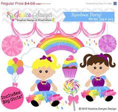 rainbow party por JessicaSawyerDesign