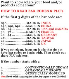 How to read bar codes and plu stickers
