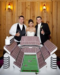 Kyle Field groom's cake! Whoop!