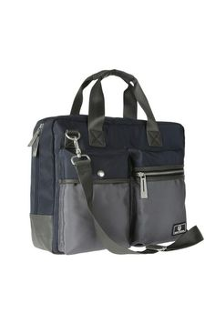 Bag designed for professional use, with pockets and compartments for PC and documents. Spacious and convenient, it's dedicated to those who want an accessory for work, without renouncing to a sporty and dynamic look.  Size: cm 39 x 30 x 11