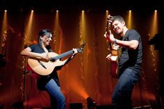 """With their new album, """"Area 52,"""" Rodrigo y Gabriela revisit nine songs from the duo's earlier discs, infusing the tracks with Cuban flavored orchestrations."""
