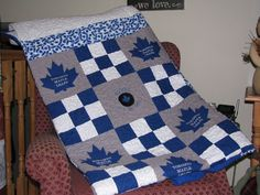 Best Ideas About Leafs Quilt Leafs Fabric And Nhl Fabric