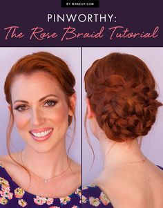 Rose braided Updo video tutorial