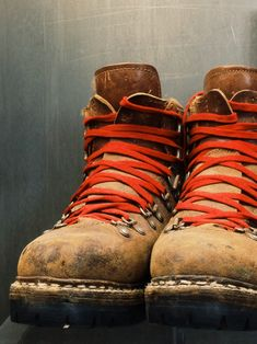 Vintage Vasque hiking boots at the Red Wing Museum, Red Wing, MN. WASA INDUSTRIES