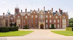 Sandringham House in Norfolk where the Royal Family spends Christmas every year. Diana, Princess of Wales was born at Park House, a home on the Sandringham estate in Santa Lucia, English Castles, Royal Residence, Isabel Ii, Jamaica, Beautiful Castles, England And Scotland, London, British Royals