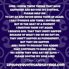 Prayer to get over hurt