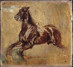 Study of a horse by Jean-Louis-Ernest Meissonier