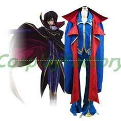Free Shipping Fast Custom Made Code Geass Cosplay Lelouch Gothic Con Party Costume With Cloak - http://www.aliexpress.com/item/Free-Shipping-Fast-Custom-Made-Code-Geass-Cosplay-Lelouch-Gothic-Con-Party-Costume-With-Cloak/656817133.html