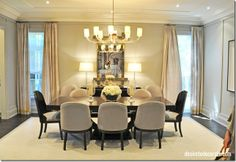 Contemporary style dining room // PMWHS-Showhome The Dining Room