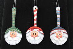 Wooden Spoon Santa Ornaments by Lanneys on Etsy, $4.99