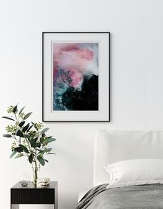 Origin of Everything | Mariëtte Kotzé | Pink Abstract | Giclée Print | Limited edition of 10 Colorful Clouds, Ink Wash, Pink Abstract, White Ink, Macro Photography, Giclee Print, Everything, Fine Art Prints, Gallery Wall